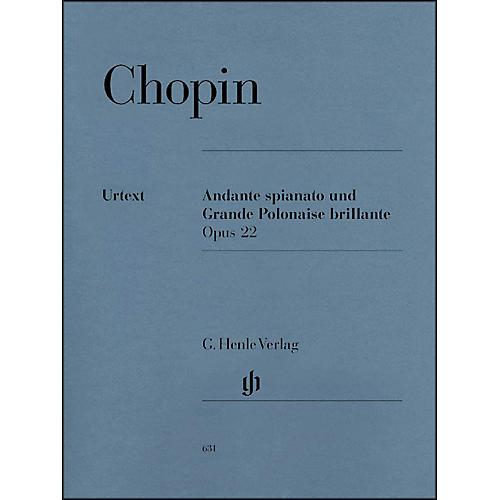 G. Henle Verlag Andante Spianato And Grande Polonaise Brillante E Flat Major Opus 22 By Chopin
