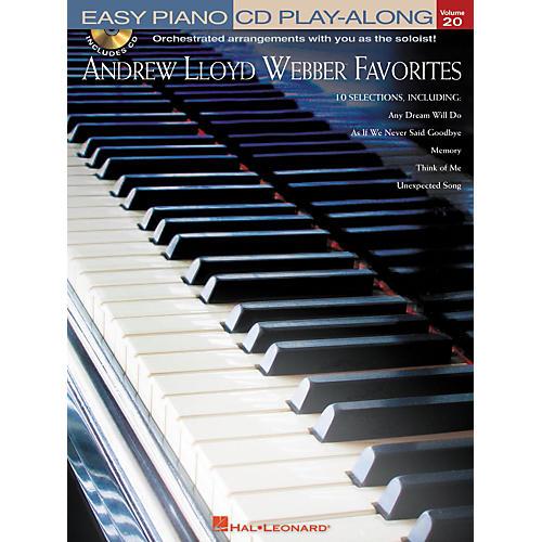 Hal Leonard Andrew Lloyd Webber Favorites - Easy Piano CD Play-Along Volume 20 Book/CD