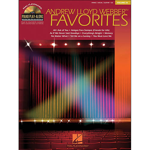 Hal Leonard Andrew Lloyd Webber Favorites Volume 26 Book/CD Piano Play-Along arranged for piano, vocal, and guitar (P/V/G)