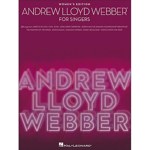 Hal Leonard Andrew Lloyd Webber for Singers - Women's Edition