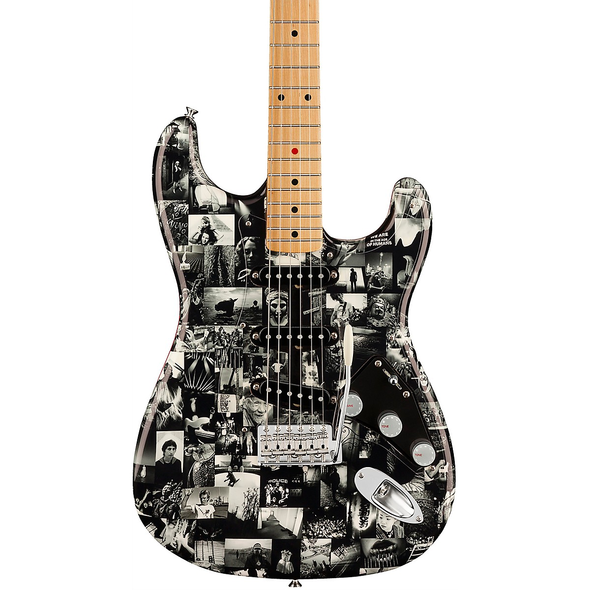 Fender Custom Shop Andy Summers Monochrome Stratocaster Electric Guitar Master Built by Dennis Galuszka