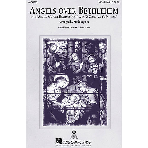 Hal Leonard Angels Over Bethlehem 2-Part Arranged by Mark Brymer