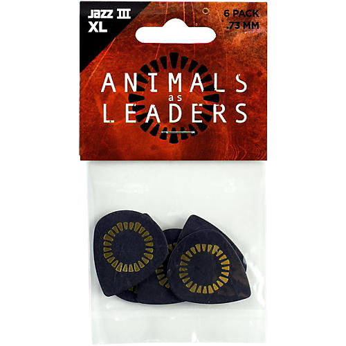 Dunlop Animals As Leaders Tortex Jazz III XL, Black, Guitar Picks