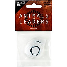 Dunlop Animals as Leaders Tortex Jazz III, White Guitar Picks .60 mm 6 Pack