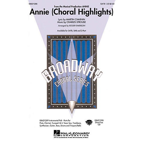 Hal Leonard Annie (Choral Highlights) ShowTrax CD Arranged by Roger Emerson