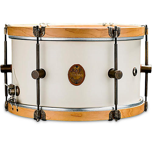 A&F Drum Co Antique White Maple Field Snare Drum