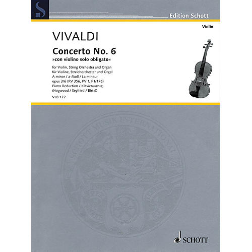 Schott Antonio Vivaldi - Concerto No. 6 in A minor, Op. 3/6, RV 356 String Series Softcover