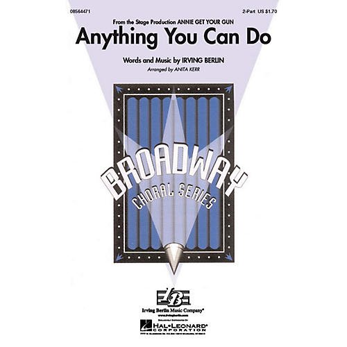 Hal Leonard Anything You Can Do 2-Part arranged by Anita Kerr