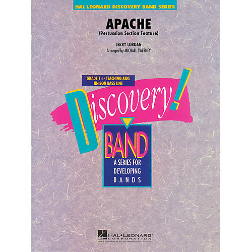 Hal Leonard Apache (Percussion Section Feature) Concert Band Level 1.5 Arranged by Michael Sweeney