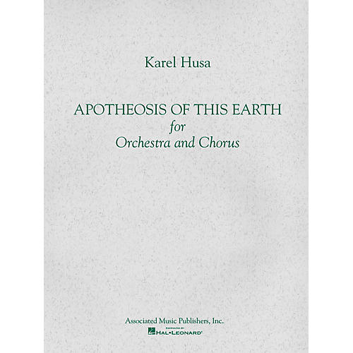 Associated Apotheosis of This Earth (Full Score) Study Score Series Composed by Karel Husa
