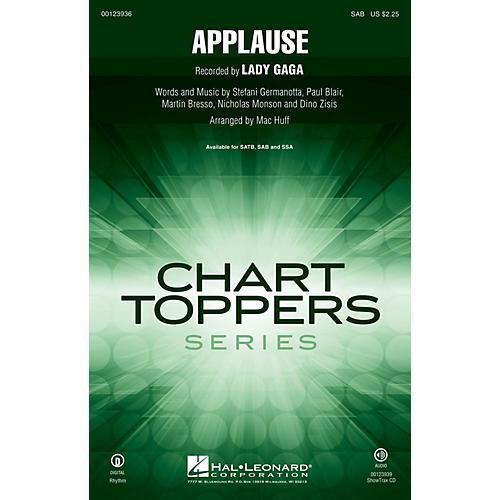 Hal Leonard Applause SAB by Lady Gaga arranged by Mac Huff