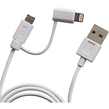 Tera Grand Apple MFi Certified 2-in-1 USB Sync & Charge Cable with Lightning and Micro USB Connectors