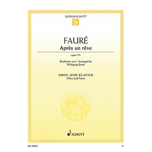 Schott Après un rêve, Op 7/1 (Arranged for Oboe and Piano) Woodwind Series Book