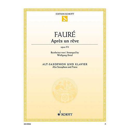 Schott Après un rêve, Op. 7/1 (Arranged for Alto Saxophone and Piano) Woodwind Series