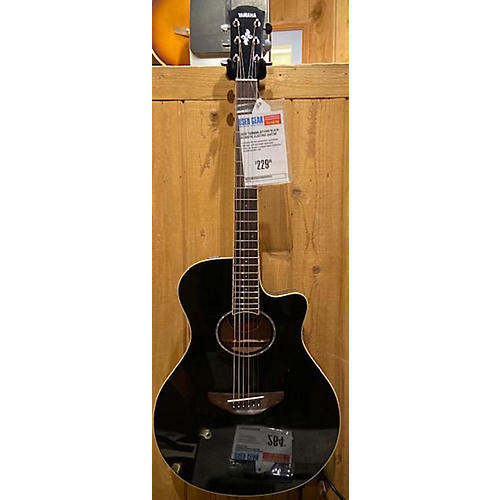 used yamaha apx600 acoustic electric guitar black guitar center. Black Bedroom Furniture Sets. Home Design Ideas