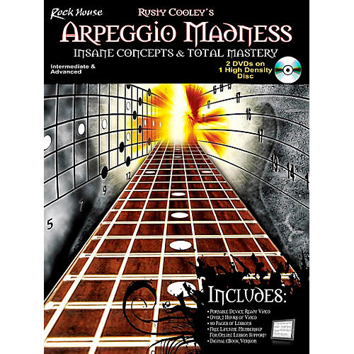 Rock House Arpeggio Madness - Insane Concepts & Total Mastery Book/DVD
