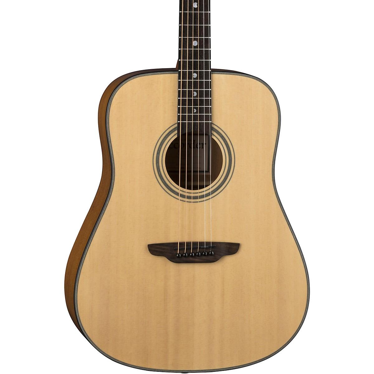 Luna Guitars Art Recorder Dreadnought Acoustic Guitar
