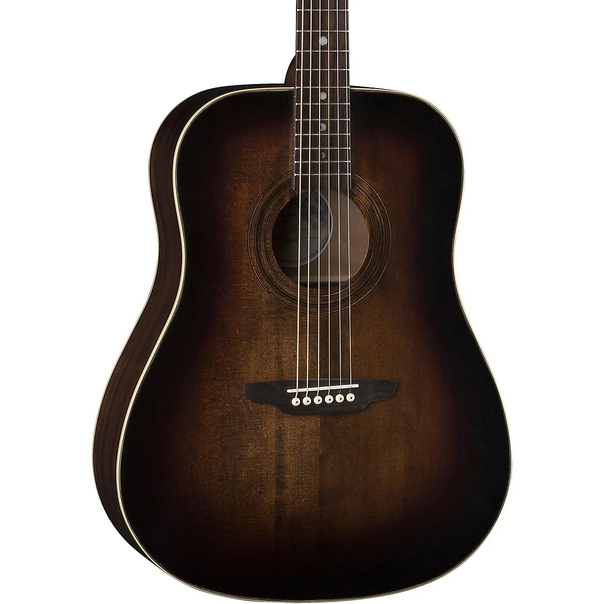 Luna Guitars Art Vintage Dread Solid Top Distressed Acoustic Guitar
