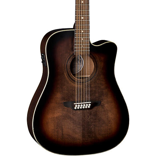 Luna Guitars Art Vintage Dreadnought Cutaway Acoustic-Electric 12-String Guitar