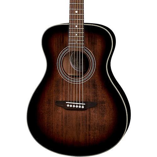 Luna Guitars Art Vintage Folk Solid Top Left-Handed Acoustic Guitar