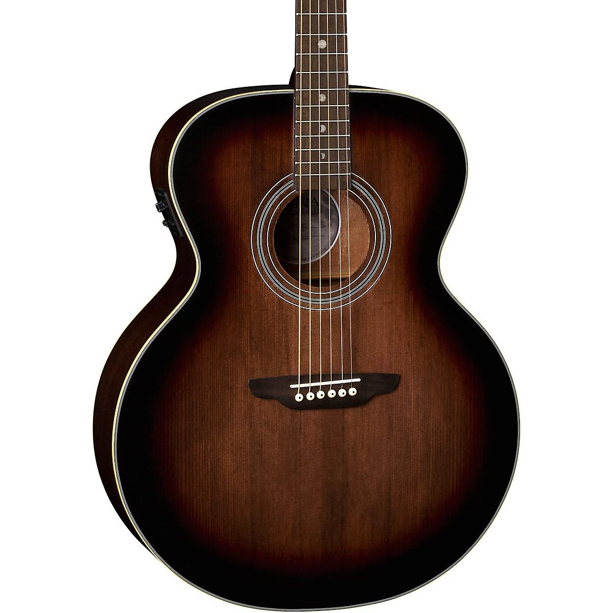 Luna Guitars Art Vintage Solid Top Jumbo Acoustic/Electric Guitar