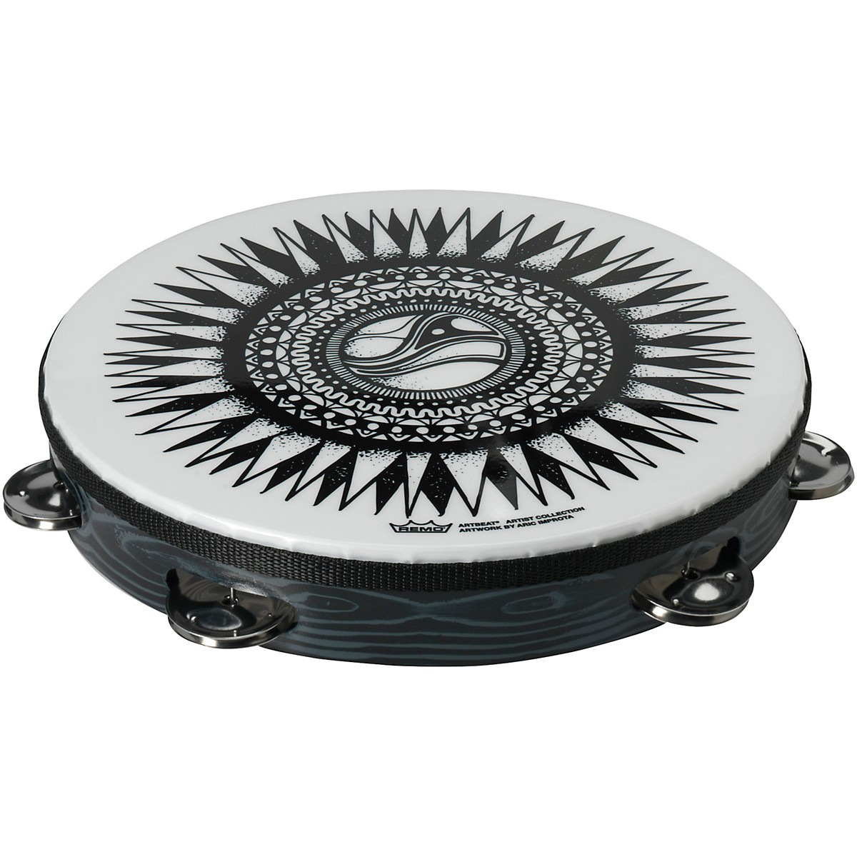 Remo ArtBEAT Aric Improta New Sun Artist Collection Tambourine