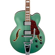 Artcore AFS75 Hollowbody Electric Guitar with Bigsby Metallic Green Flat