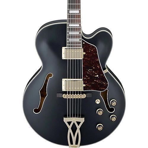 ibanez artcore series af75g hollowbody electric guitar flat black guitar center. Black Bedroom Furniture Sets. Home Design Ideas