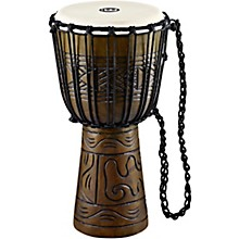 Artifact Series Hand Carved Djembe 10 in. Brown
