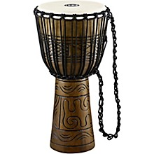 Artifact Series Hand Carved Djembe 12 in. Brown