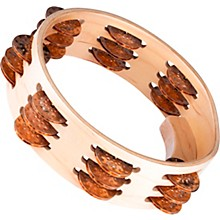 Artisan Compact Maple Wood Tambourine Three Rows Hammered Cymbal Bronze 8 in.