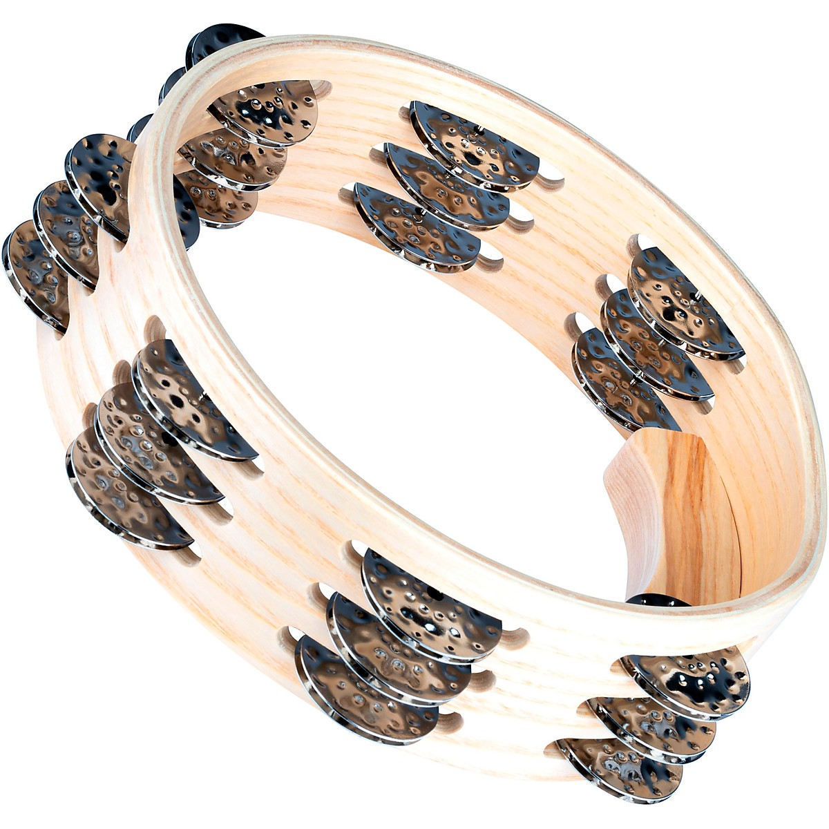 Meinl Artisan Edition Compact Tambourine with Steel Jingles 3 Row