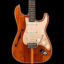 Artisan Koa Stratocaster Electric Guitar Aged Natural Top with Aged Teal Green Back and Sides