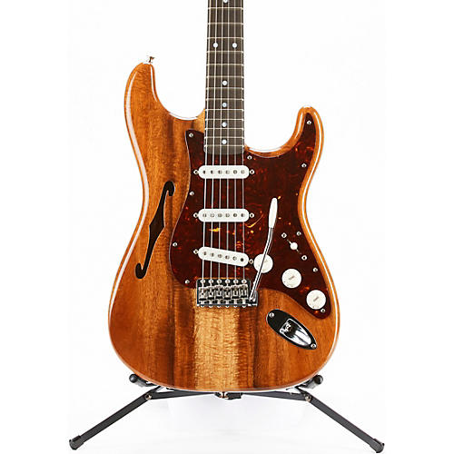 Fender Custom Shop Artisan Stratocaster Thinline Roasted Ash Body with Flame Koa Top Electric Guitar