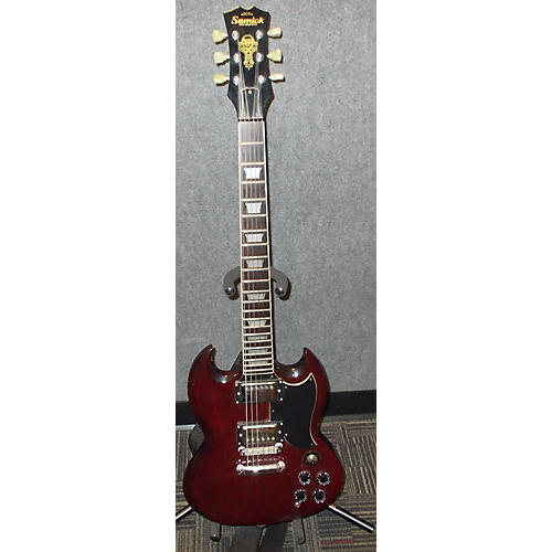 Samick Artist Series Cherry Solid Body Electric Guitar
