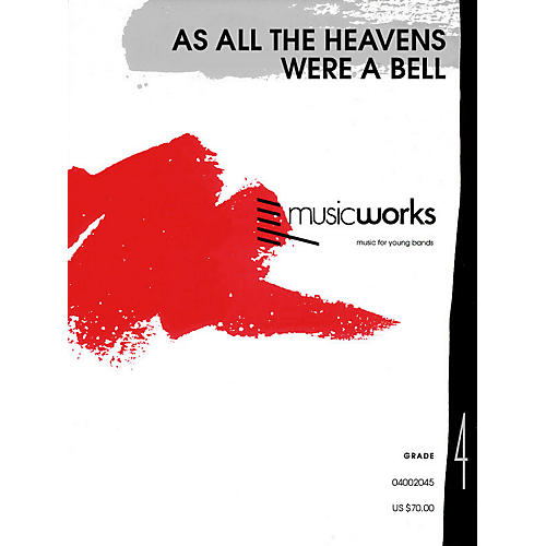 Hal Leonard As All the Heavens Were a Bell (with Optional Chorus) Concert Band Level 4 Composed by Jay Bocook