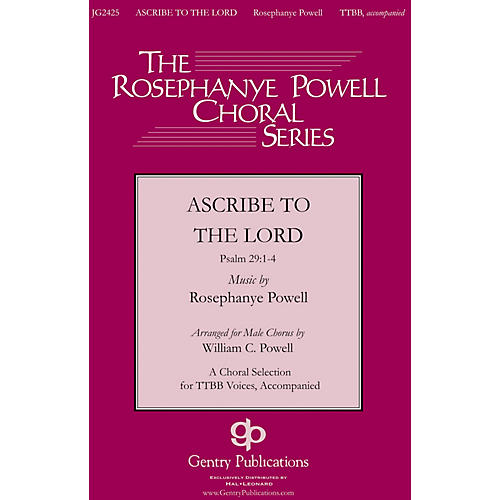 Gentry Publications Ascribe to the Lord TTBB arranged by William Powell