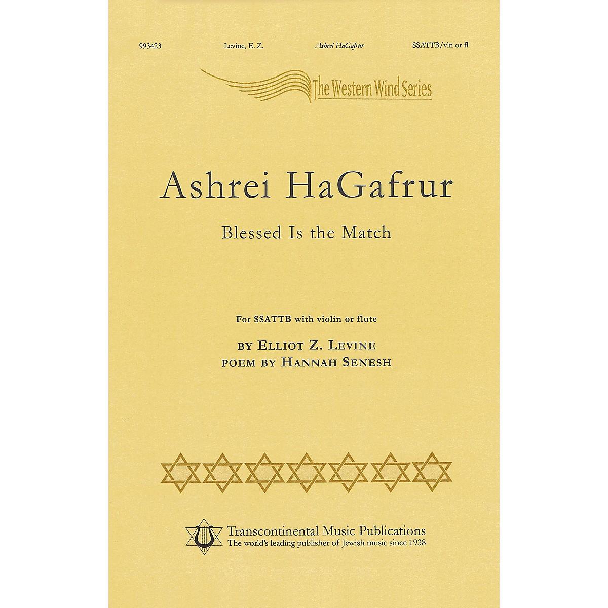 Transcontinental Music Ashrey Hagafrur SSATTB composed by Elliot Z. Levine