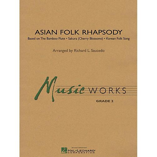 Hal Leonard Asian Folk Rhapsody Concert Band Level 2 Composed by Richard Saucedo