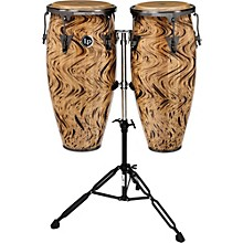 "LP Aspire 10"" and 11"" Conga Set with Double Conga Stand Havana Cafe with Brushed Nickel Hardware"