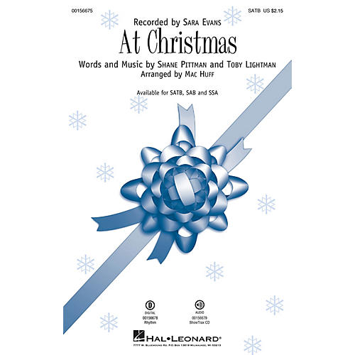 Hal Leonard At Christmas SATB by Sara Evans arranged by Mac Huff