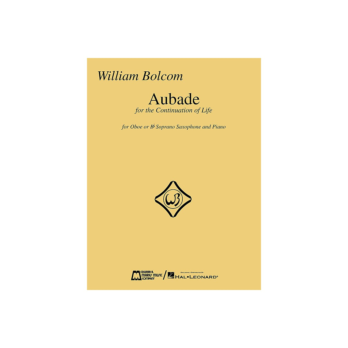 Hal Leonard Aubade (For Oboe or B-flat Soprano Saxophone with Piano) Woodwind Solo Series