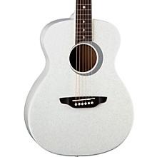 Aurora Borealis 3/4 Size Acoustic Guitar White Sparkle