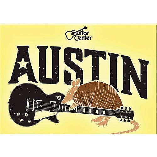 Guitar Center Austin Guitar Graphic Sticker