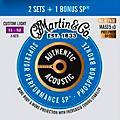 Martin Authentic Acoustic SP Guitar Strings, Custom Light (MA535) Value 3-Pack (11-52) thumbnail