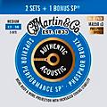 Martin Authentic Acoustic SP Guitar Strings, Medium (MA550) Value 3-Pack (13-56) thumbnail