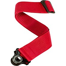 Auto Lock Guitar Strap - Poly Red 2 in.