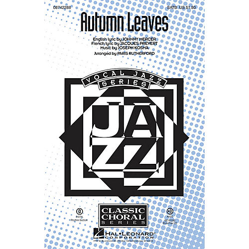 Hal Leonard Autumn Leaves ShowTrax CD Arranged by Paris Rutherford