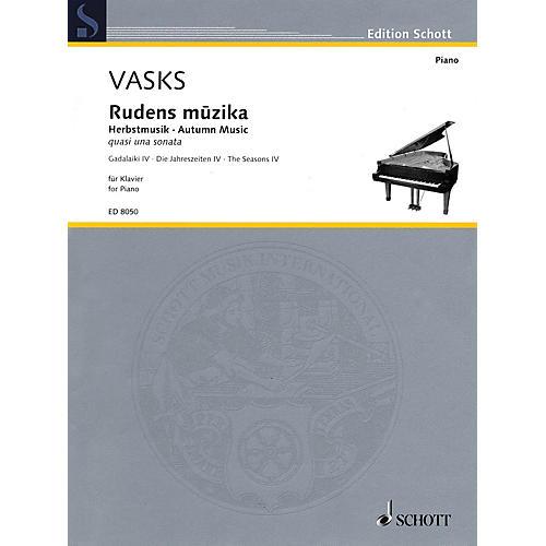 Schott Autumn Music (quasi una sonata Piano Solo) Schott Series Softcover Composed by Peteris Vasks