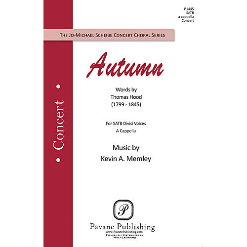 Pavane Autumn SATB composed by Kevin Memley